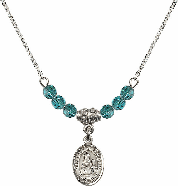 Our Lady of Loretto Zircon Swarovski Beaded Necklace by Bliss Mfg
