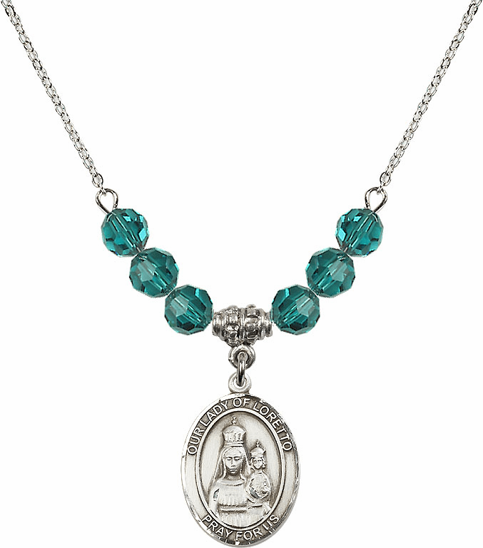 Our Lady of Loretto Zircon Swarovski Necklace by Bliss Mfg