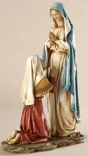 Our Lady of Lourdes with St Bernadette Statue by Joseph Studio