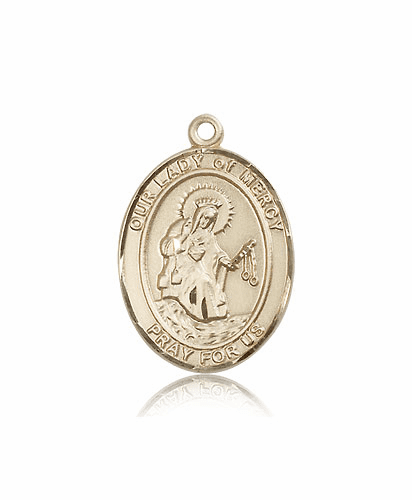 Our Lady of Mercy 14kt Gold Patron Medal Pendant by Bliss