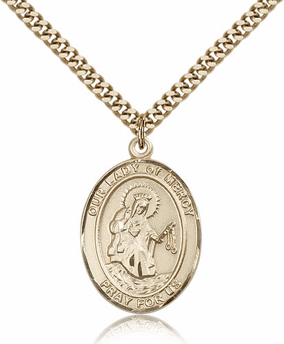 Our Lady of Mercy Patron 14kt Gold Filled Medal by Bliss