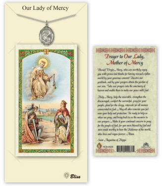 Our Lady of Mercy Pendant and Holy Prayer Card Gift Set by Bliss