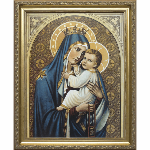 Our Lady of Mount Carmel Framed Art Print Under Glass Picture