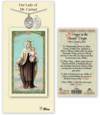 Our Lady of Mount Carmel Pendant and Holy Prayer Card Gift Set by Bliss