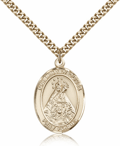 Our Lady of Olives Gold Filled Patron Saint Medal
