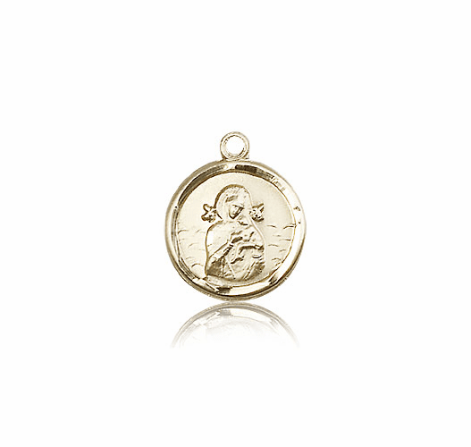 Our Lady of Perpetual Help 14kt Gold Medal by Bliss