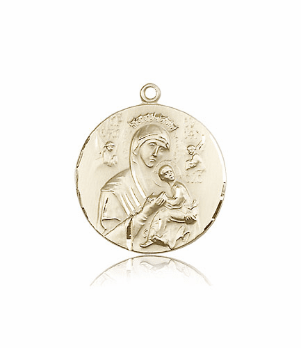 Our Lady of Perpetual Help 14kt Gold Medals by Bliss