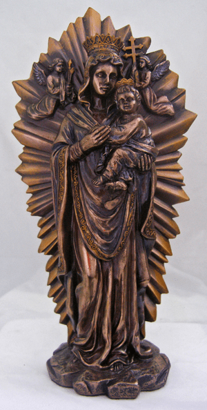 Our Lady of Perpetual Help Cold Cast Bronze Statue by Veronese