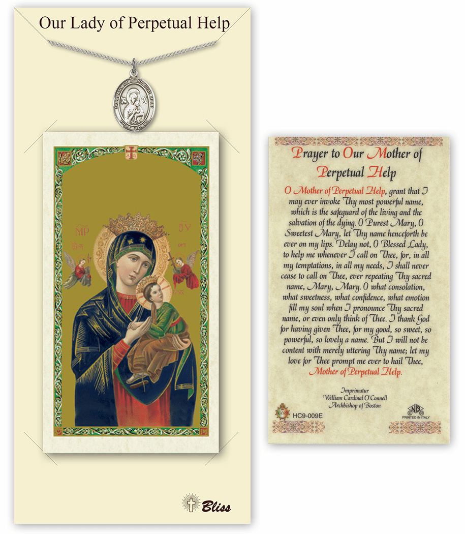 Our Lady of Perpetual Help Pendant and Holy Prayer Card Gift Set by Bliss