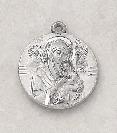 Our Lady of Perpetual Help Sterling Pendant w/Chain by Creed Jewelry