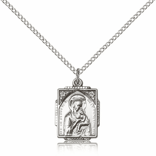 Our Lady of Perpetual Help Sterling Silver Necklace by Bliss