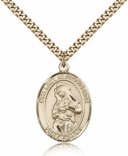 Our Lady of Providence Gold Filled  Pendant