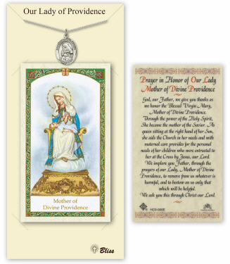Our Lady of Providence Pendant and Holy Prayer Card Gift Set by Bliss