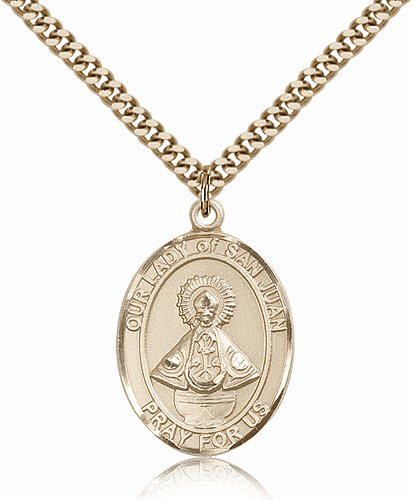 Our Lady of San Juan Gold Filled Patron Medal