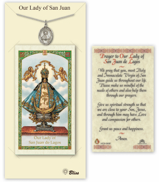 Our Lady of San Juan Pendant and Holy Prayer Card Gift Set by Bliss