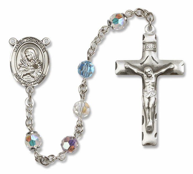 Our Lady of Sorrows - Mater Dolorosa Swarovski Crystal Rosaries