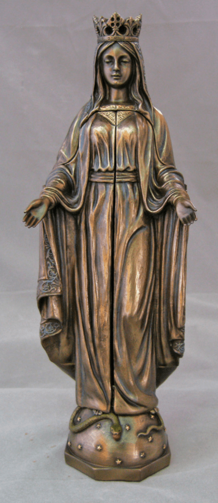 Our Lady of Sorrows Triptych Bronze Cold Cast Statue by Veronese