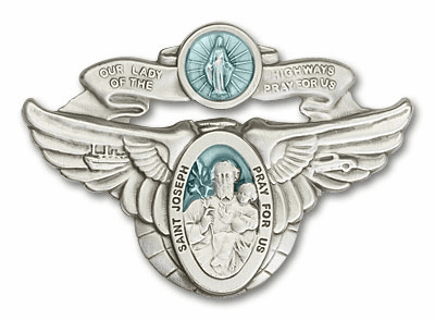 Our Lady of the Highway & St Joseph Auto Visor Clip by Bliss