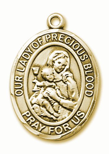 Our Lady of the Precious Blood 14kt Gold Patron Saint Pendant Medal by Bliss