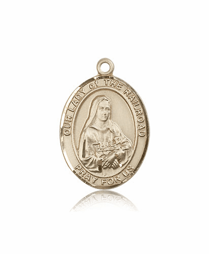 Our Lady of the Railroad 14kt Gold Patron Medal by Bliss