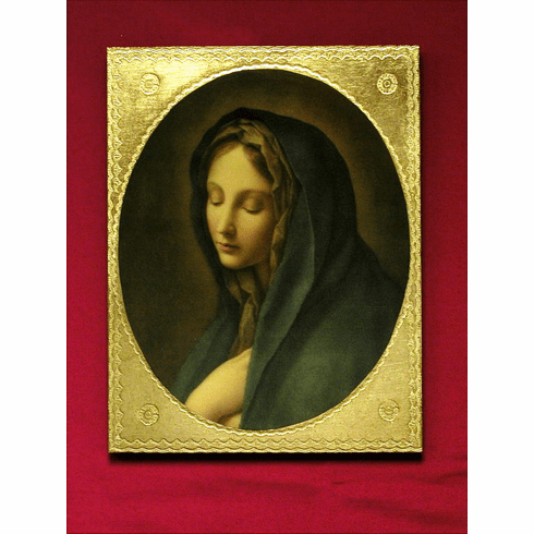 Our Lady of the Sorrows by Carlos Dolci Florentine Wall Plaque