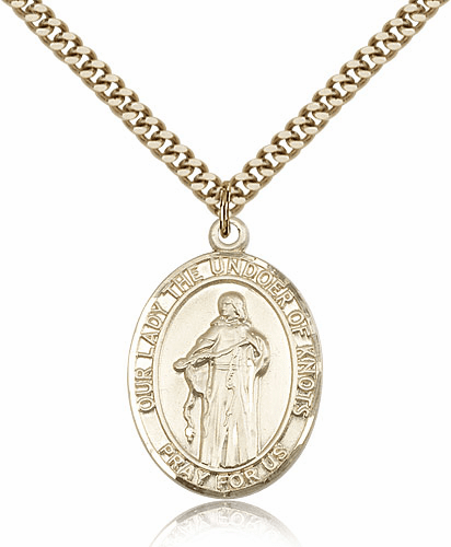 Our Lady of Undoer Knots Gold Filled Patron Medal