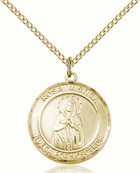 Our Lady Rosa Mystica Spanish Patron Saint 14kt Gold-filled Medal by Bliss