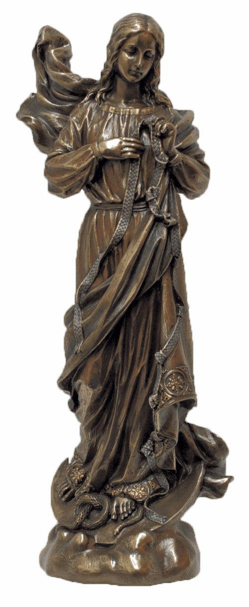 Our Lady Undoer of Knots Cold-Cast Bronze Statue by Veronese Collection