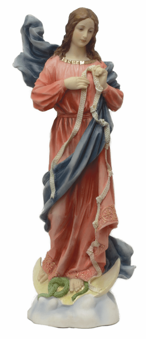 Our Lady Undoer of Knots Hand-Painted Resin Statue by Veronese Collection