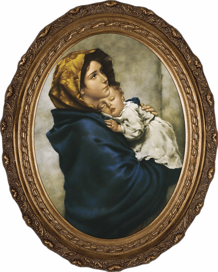 Oval Madonna of the Streets Canvas Wall Art Picture by Nelson