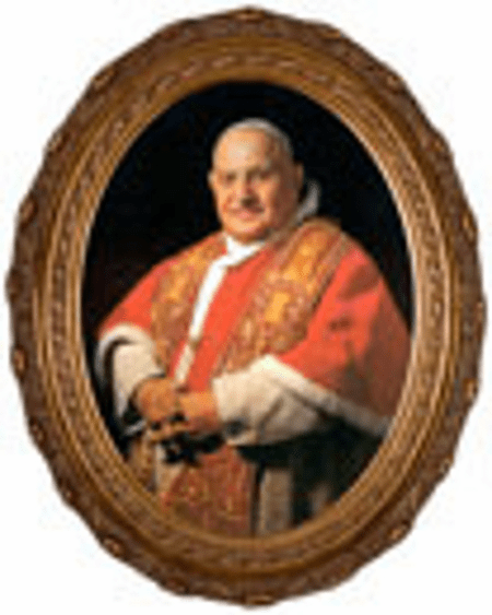Oval Pope John XXIII Sainthood Canvas Wall Art Picture by Nelson