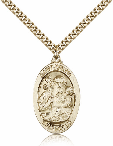 Oval St Joseph Patron Saint Medal by Bliss Manufacturing