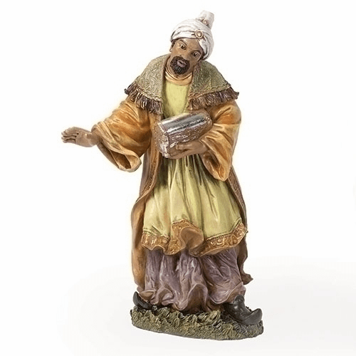 Painted African Wise Man 27 inch Scale Christmas Nativity Set Figure by Joseph Studio