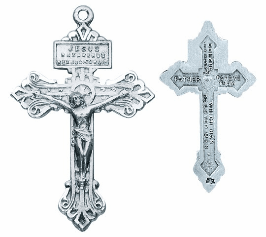 Pardon Sterling Silver Crucifix Catholic Rosary Part by HMH Religious