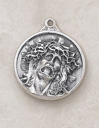 Passion Head of Christ Sterling Silver Medal Pendant by Creed Jewerly