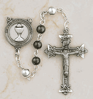 Pewter First Holy Communion Rosaries