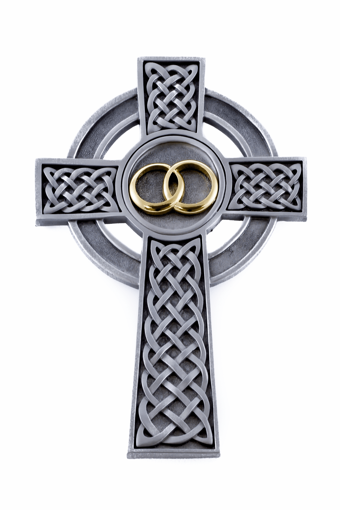Pewter Knotted Celtic Wedding Cross by Jeweled Cross