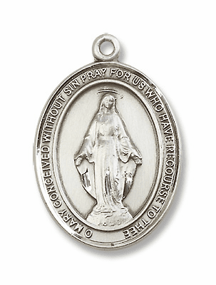 Pewter Miraculous Medals & Jewelry