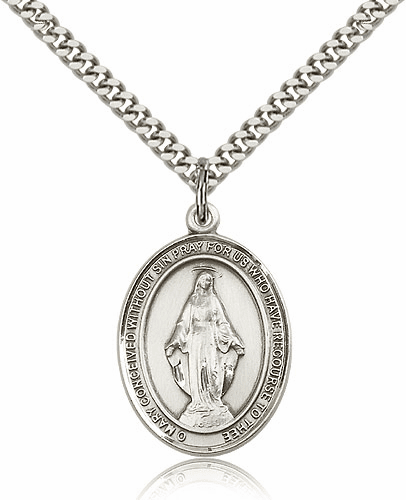 Miraculous Medal Pewter Jewelry
