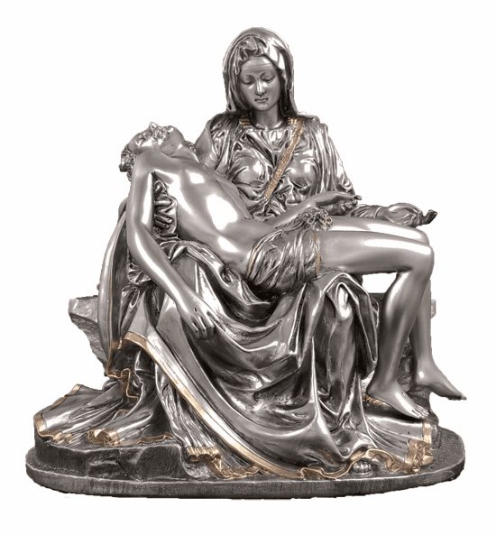 Pieta Mary and Jesus Pewter Style Finish Statue by Veronese Collection