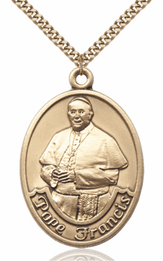 Pope Francis 14kt Gold-filled Saint Necklace by Bliss