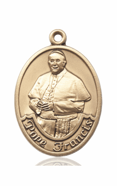 Pope Francis 14kt Gold Patron Saint Pendant Medal by Bliss
