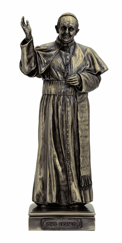 Pope Francis Cold Cast Bronze Statue by Veronese Collection