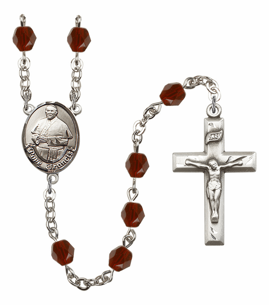 Pope Francis Birthstone Crystal Prayer Rosary by Bliss - More Colors