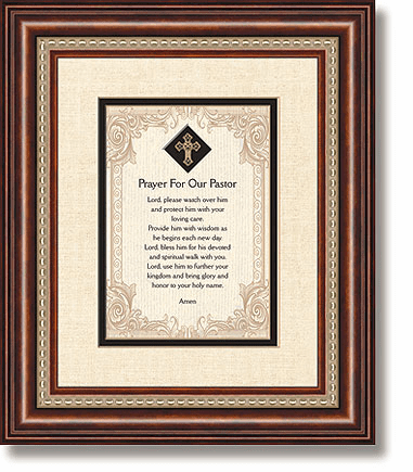 Prayer For Our Pastor Framed Tabletop Christian Verse Picture by Heartfelt