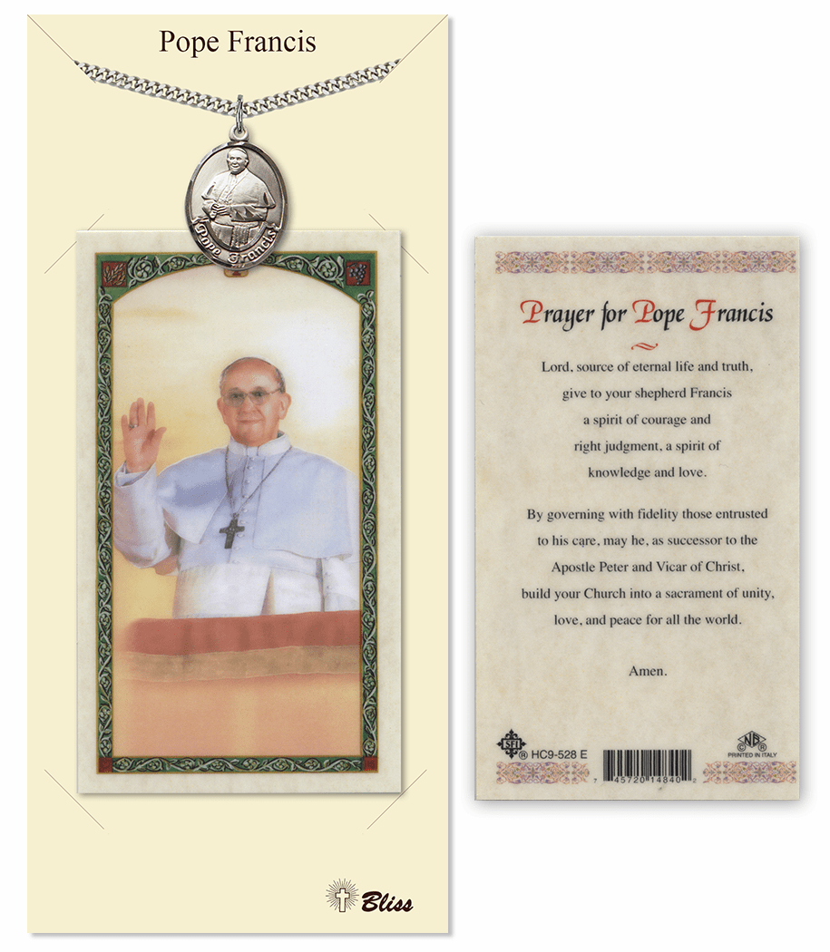 Prayer for Pope Francis Pendant and Holy Prayer Card Gift Set by Bliss