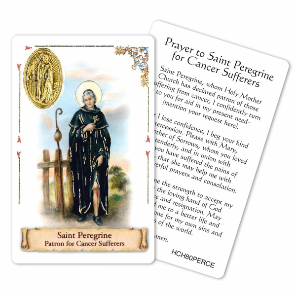 Prayer to Peregrine for Cancer Sufferers Laminated Holy Card by Cromo