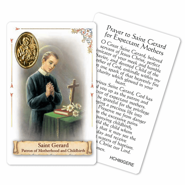 Prayer to St Gerard for Motherhood and Childbirth Holy Card by Cromo