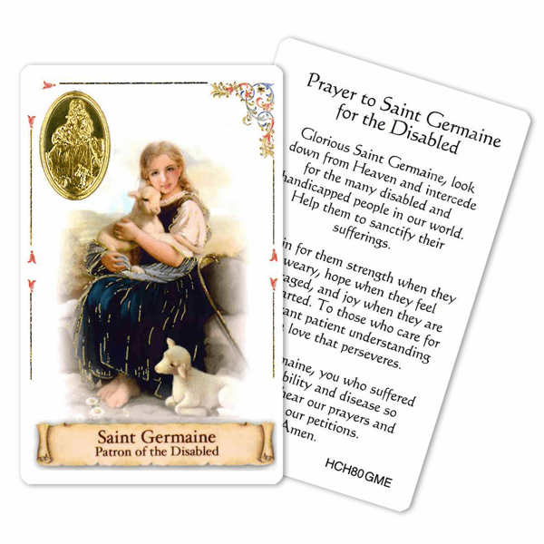 Prayer to St Germain for the Disabled Laminated Holy Card by Cromo