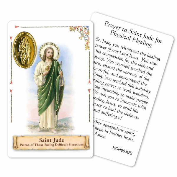 Prayer to St Jude Patron of Those for Physical Healing Holy Card by Cromo
